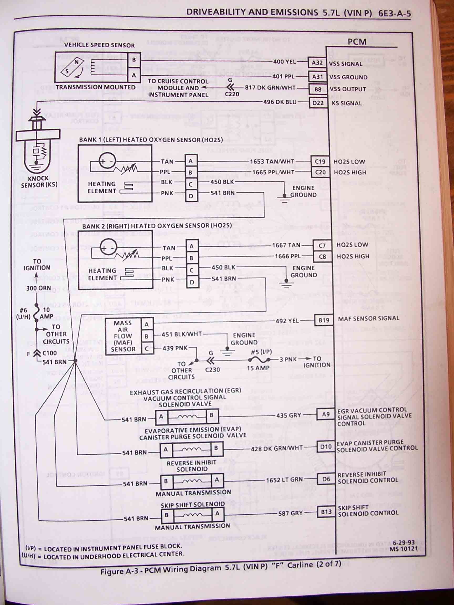 1995 F Body Wire Harness Schematics Lt1 24x Wiring