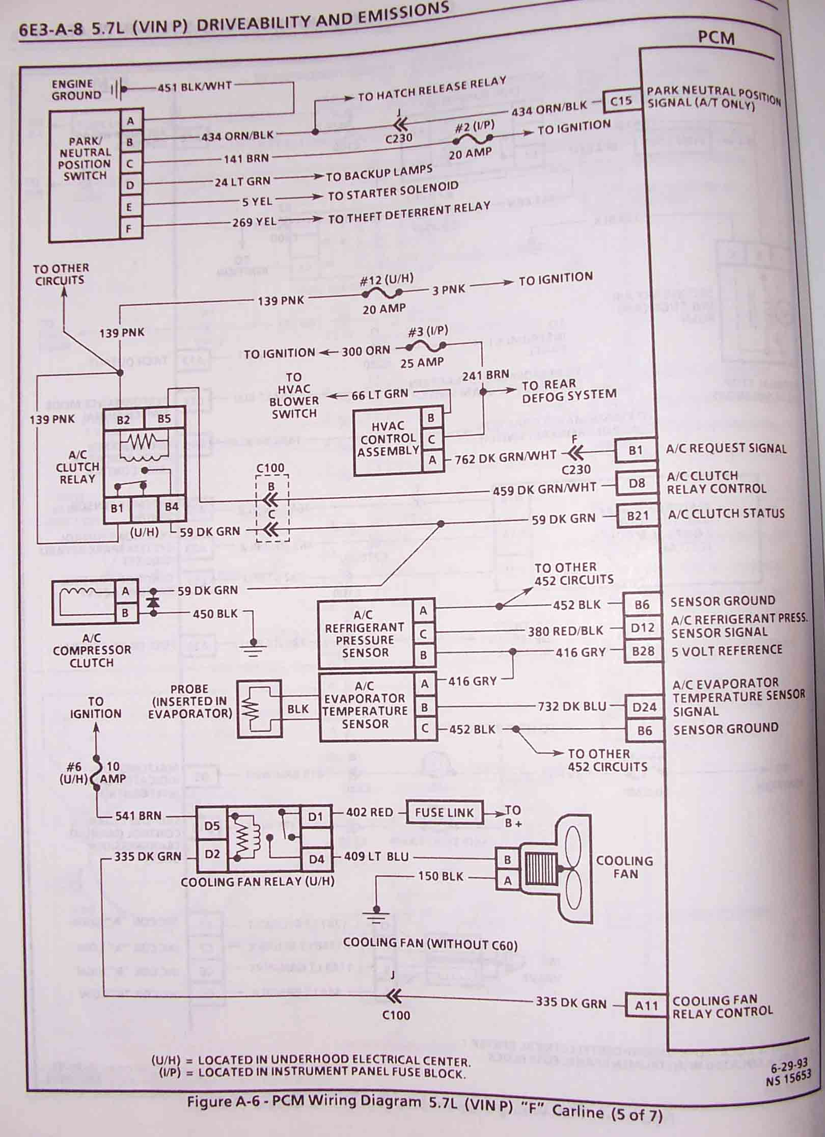1994 Lt1 Wiring Diagram Basic Schematic 22re Vacuum 1995 F Body Wire Harness Schematics Cooling System