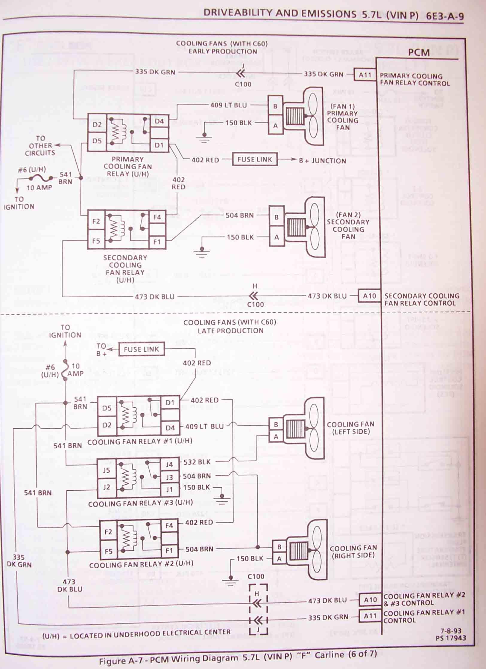 1995 F Body Wire Harness Schematics