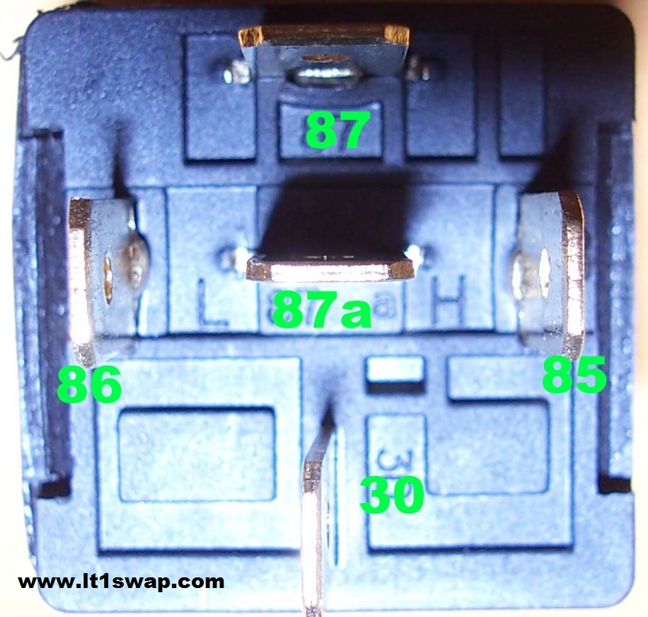 Wiring Harness Information Ls1 Diagram For 1987 Here Are Some Pictures Of A Typical Automotive Relay That Can Be Found At Most Parts Stores