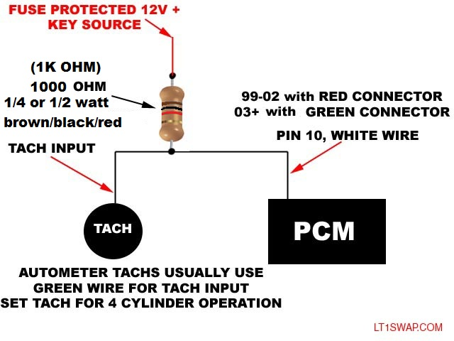 Tach Wiring For 99  Vortec  Ls1